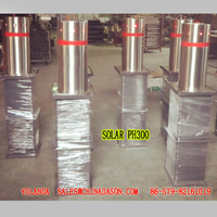Semi-Automatic Bollard with Sollar Lights pH300-L