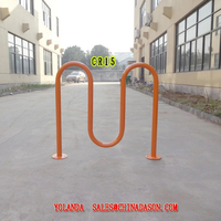 Metal Ground-Mounted Bike Rack Cr15